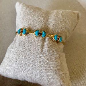Stella & Dot Turquoise Stone cuff
